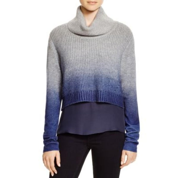 Elie Tahari Womens Pullover Sweater Wool Ombre