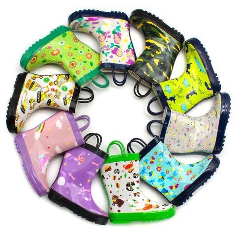 Mucky Wear Children's Waterproof Patterned Loop Boot