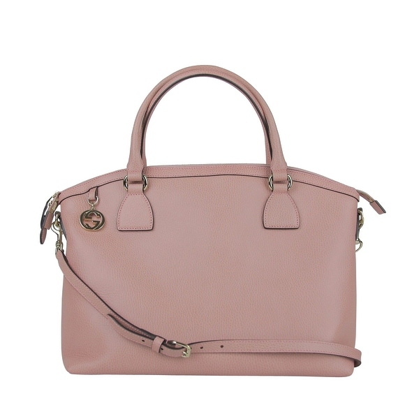 74994ea4c7c0f2 Gucci GG Charm Soft Pink Leather Medium Convertible Dome Bag 449651 5806