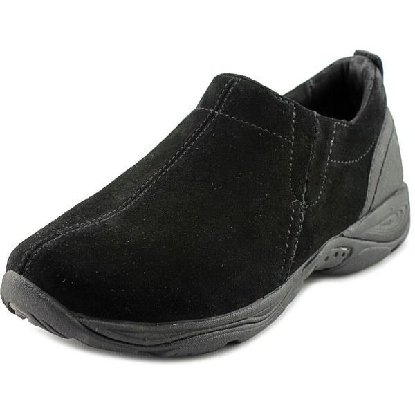Easy Spirit Eveline Women Round Toe Suede Black Loafer