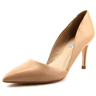 Charles David Lulu Women Pointed Toe Leather Nude Heels