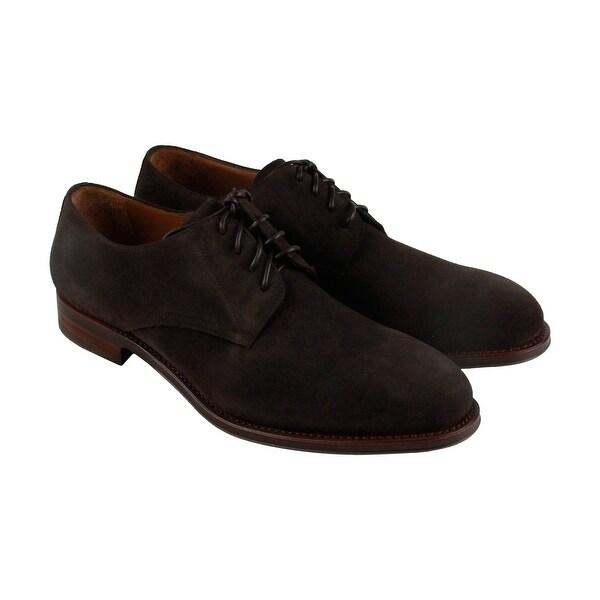 Aquatalia Vance Mens Brown Suede Casual Dress Lace Up Oxfords Shoes