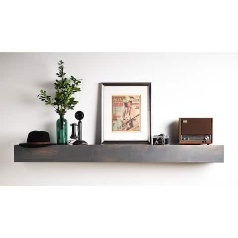 Copper Grove Ghia Driftwood Gray Mantel Shelf