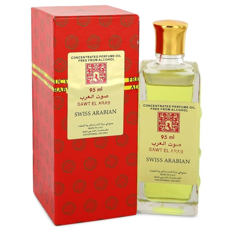 Sawt El Arab by Swiss Arabian Concentrated Perfume Oil Free From Alcohol (Unisex) 3.2 oz For Women (3.1 - 4 Oz.)