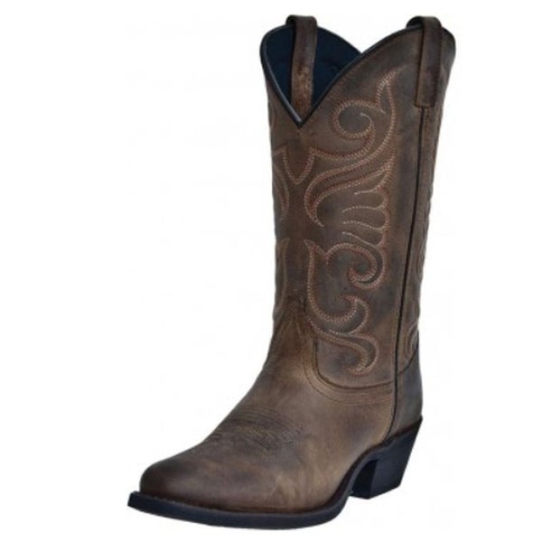 Laredo Western Boot Women Bridget Stitched Cowboy Distressed Tan