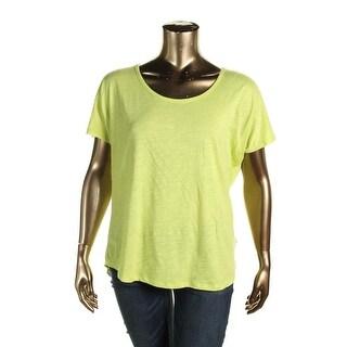 MICHAEL Michael Kors Womens T-Shirt Slub Scoop Neck