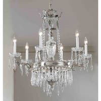 """Classic Lighting 57316-MS 34"""" Crystal Chandelier from the Duchess Collection"""