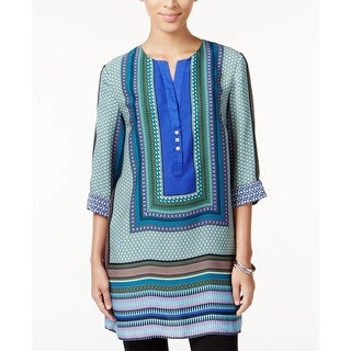 Grace Elements Womens Tunic Top Pattern Slash - xL