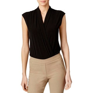 Calvin Klein Womens Bodysuit Wrap Sleeveless
