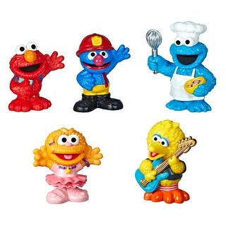 Sesame Street Neighborhood Friends Includes 5 Figures, 3-Inches, Classic Collectibles Pack For Toddlers, Great Toy For
