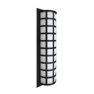 Besa Lighting SCALA28-WA Scala 3 Light Outdoor Wall Sconce with White Acrylic Shade