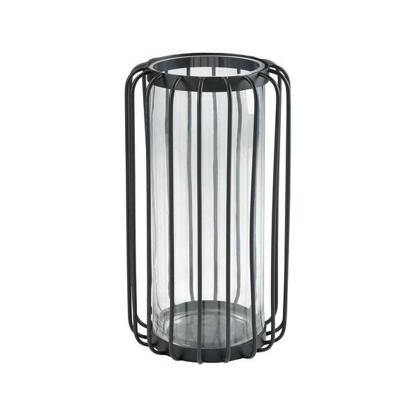 "Dimond Home 3200-159 Wellfleet 19-11/16 "" Tall Metal and Glass Candle Holder - Black"