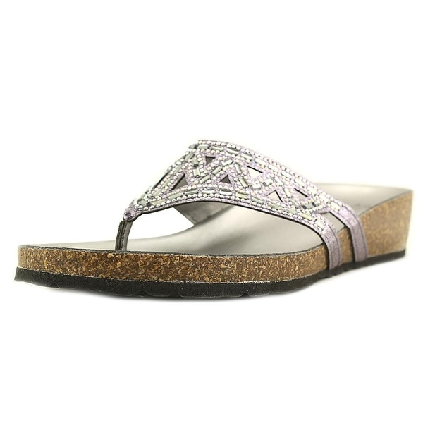 Italian Shoe Makers Emilie Pewter Sandals