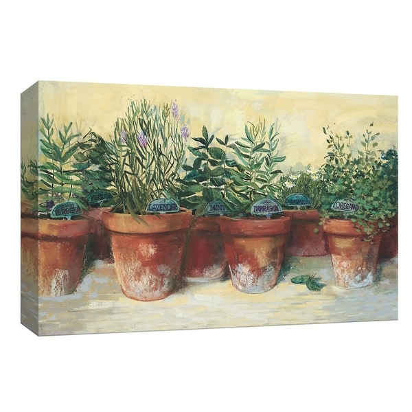 "PTM Images 9-153598 PTM Canvas Collection 8"" x 10"" - ""Potted Herbs I"" Giclee Herbs Art Print on Canvas"