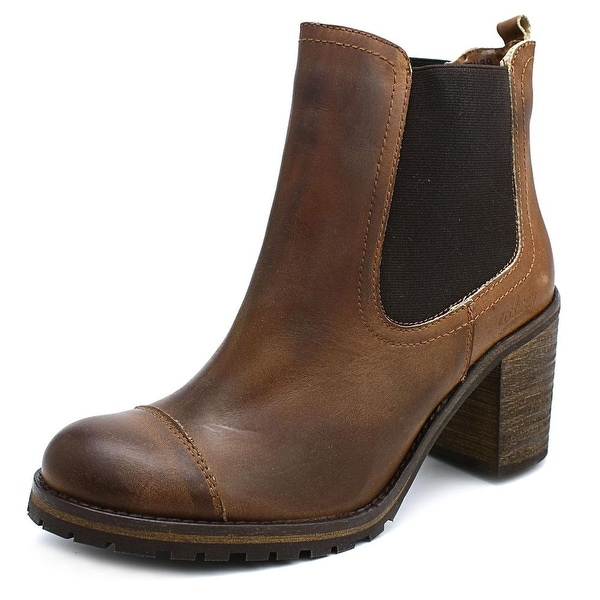 Coolway MC-30 Women Round Toe Leather Brown Boot