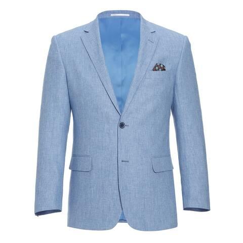 Men's Classic Fit Blazer Linen Cotton Sport Coat for Summer