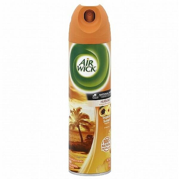 Air Wick Aerosol Spray Air Freshener, Tropical Sunset 8 oz