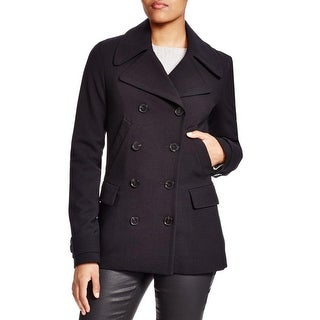 Theory Womens Joanta Pea Coat Wool Outerwear