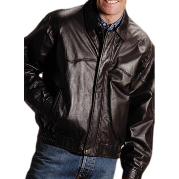 83fbe0936 Roper Western Jacket Mens Nappa Bomber Zip Brown
