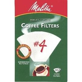 Melitta 624102 Cone Coffee Filters, 100 Count, White