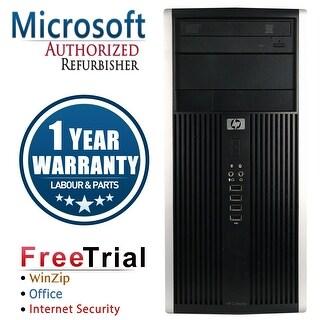 Refurbished HP Compaq 6000 Pro Tower Intel Core 2 Duo E8400 3.0G 4G DDR3 250G DVD Win 10 Pro 1 Year Warranty - Black