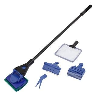 Unique Bargains 5 in 1 Black Blue Plastic Handle Aquarium Tank Cleaning Tool Cleaner