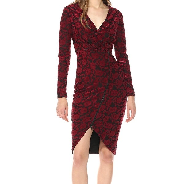 Rachel Rachel Roy Red Womens Size XXL Floral Textured Sheath Dress