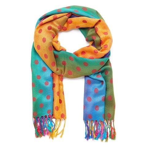 Oussum Pashmina scarf Women Shawls and Wraps Fringe Polka Dot Shawls - Large