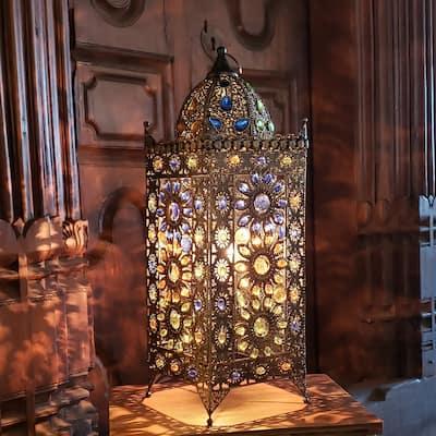 Gracewood Hollow Ellams 24-inch Jeweled Turkish Table Lamp