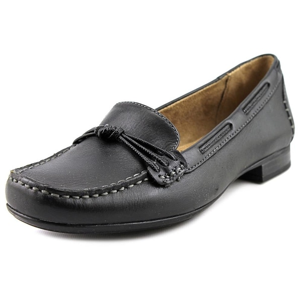 Naturalizer Imagine Women Moc Toe Leather Black Loafer