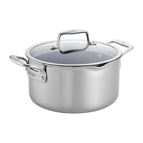 ZWILLING Clad CFX 6-qt Stainless Steel Ceramic Nonstick Dutch Oven - Stainless Steel