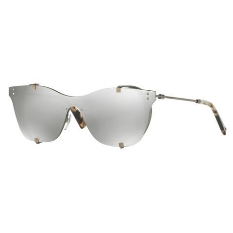 Valentino VA2016 30056G 39 Gunmetal Woman Square Sunglasses - Grey