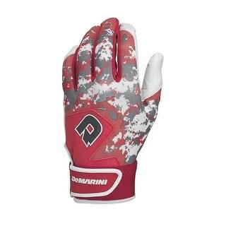 DeMarini Digi Camo II Youth Batting Gloves, Scarlet - Medium
