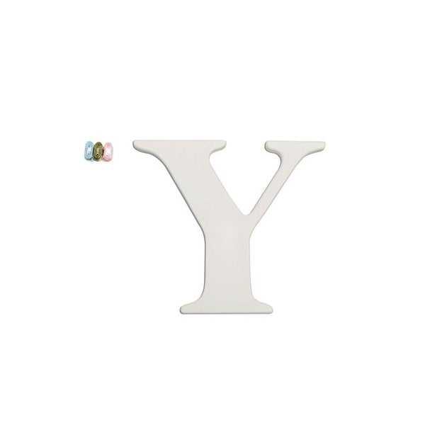 """Babies""""R""""Us Y Letter Wall Decor Wooden Personalizable"""