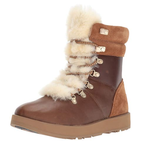 Ugg Womens viki Closed Toe Ankle Cold Weather Boots