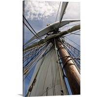 Premium Thick-Wrap Canvas entitled View up to the traditional mast, rigging and sails