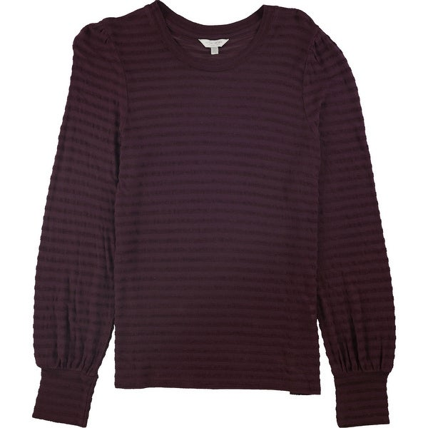 Lucky Brand Womens Chenille Stripe Basic T-Shirt. Opens flyout.