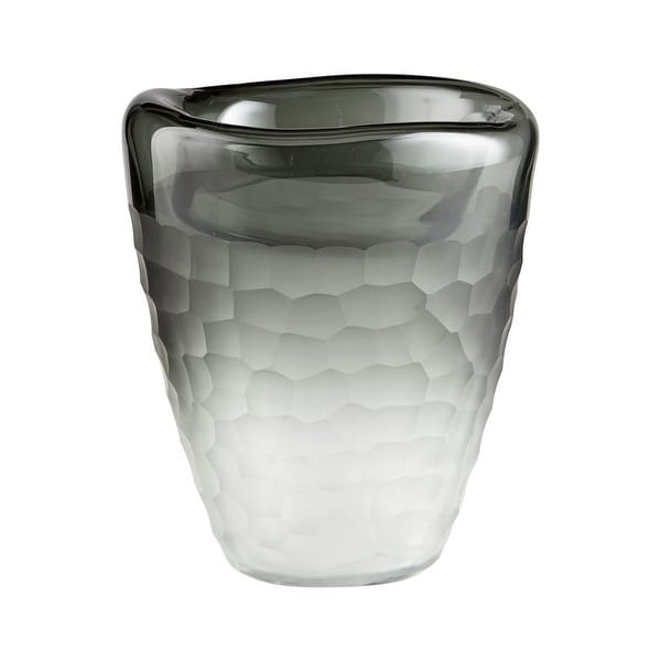 "Cyan Design Small Oscuro Vase Oscuro 9"" Tall Glass Vase - grey - N/A"
