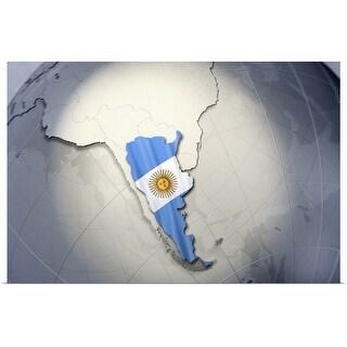 """""""Digital Composite, flag of Argentina"""" Poster Print"""