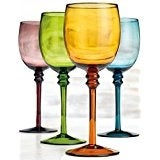 Palais Glassware Colored Wine Glass - Set of 4 (White Wine Glass 12 Oz) 5.0 out of 5 stars