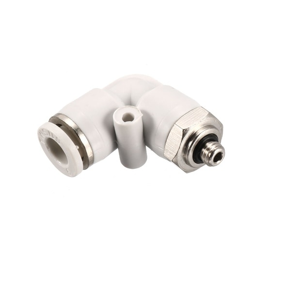 Pneumatic Push to Connect Tube Fitting Male Elbow 6mm Tube OD X M5 Thread