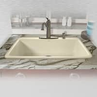 "Miseno MCI53-4TM 33"" Single Basin Drop In Cast Iron Kitchen Sink - n/a"