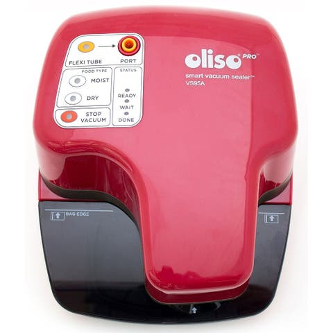 Oliso Pro VS95A Smart Vacuum Sealer, Red
