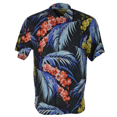 Tommy Bahama Men's Hana Lei Fronds Silk Hawaiian Floral Camp Shirt