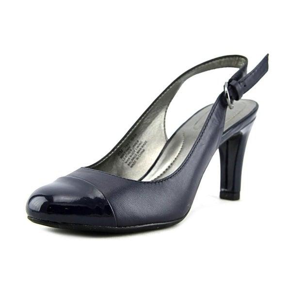 Bandolino Levani Women Round Toe Canvas Slingback Heel
