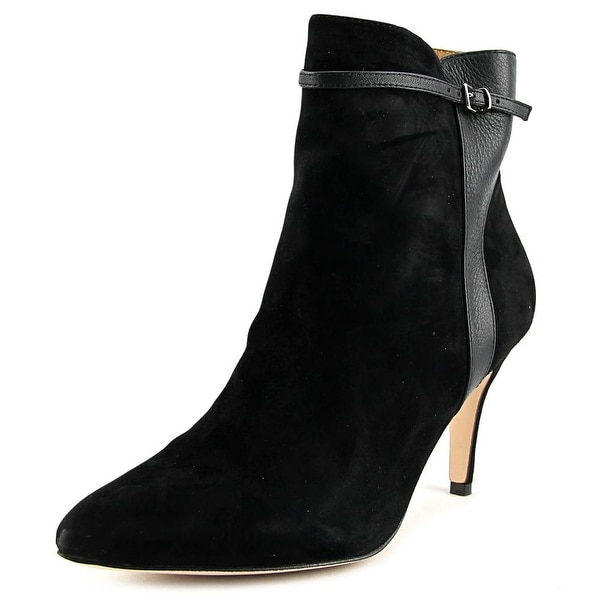 Corso Como Radiant Women Pointed Toe Suede Black Ankle Boot