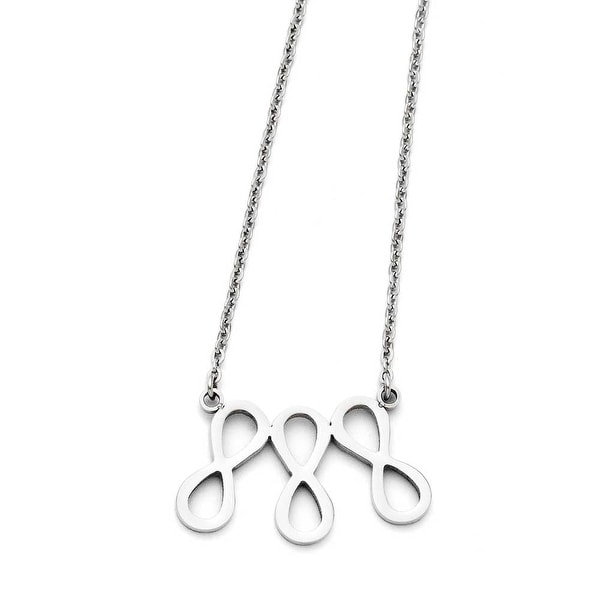 Chisel Stainless Steel Infinity Symbol Polished Necklace (1 mm) - 18 in