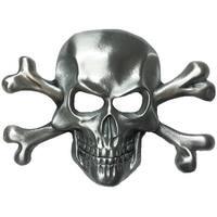 Skull & Crossbones Silver Tone Belt Buckle