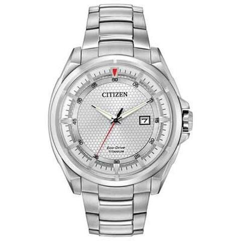 Citizen Men's AW1400-87A 'Eco-Drive' Titanium Watch - Silver