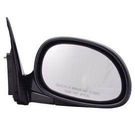 Pilot Automotive TYC 4710121 Black Passenger/ Driver Side Power Non-Heated Replacement Mirror for Honda Civic Coupe/ Hatchback